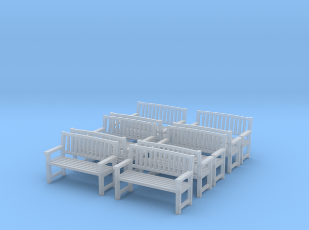 Bench type B - 1:35 scale 10 Pcs set 3d printed