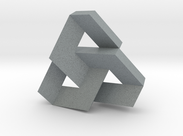Trefoil Knot from Triangular Beam (tight) 3d printed