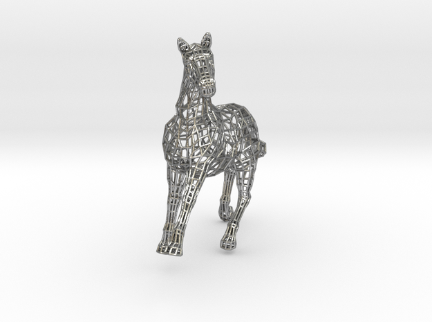 2014 Year of the Horse- Polished Gold in Natural Silver