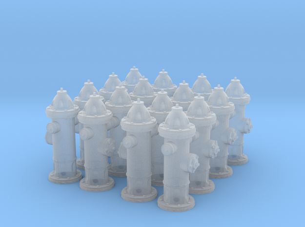 Hydrant type : A 1:72 16 Pcs in Smooth Fine Detail Plastic