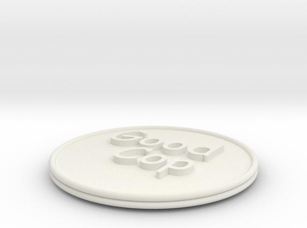 Good Cop/Bad Cop Coin in White Natural Versatile Plastic