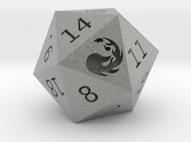 Mountain D20 3d printed