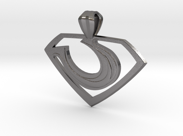 "Zod ""Man of Steel"" Pendant 3d printed"