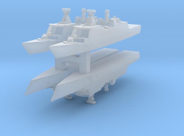 Danish Absalon class 1:6000 x4 3d printed