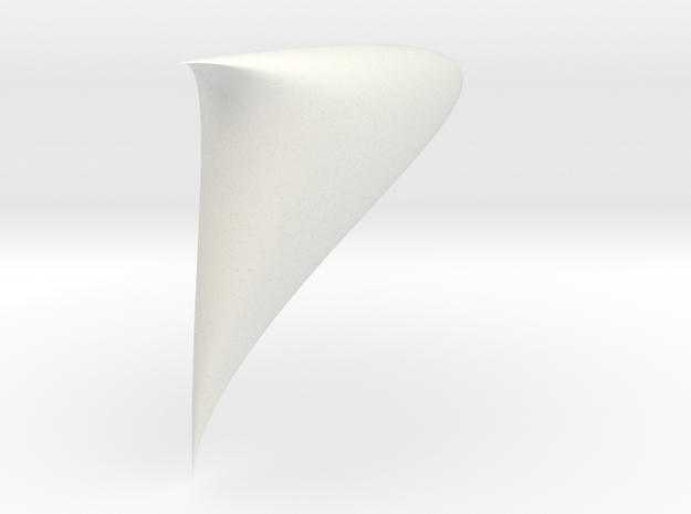 Piriform drop sinoid 1/4 3d printed