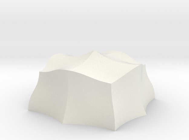 Top_Hemispherical_Hollow in White Strong & Flexible