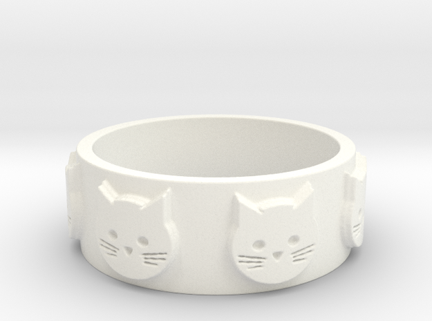 Ring of Seven Cats Ring Size 8.5 3d printed