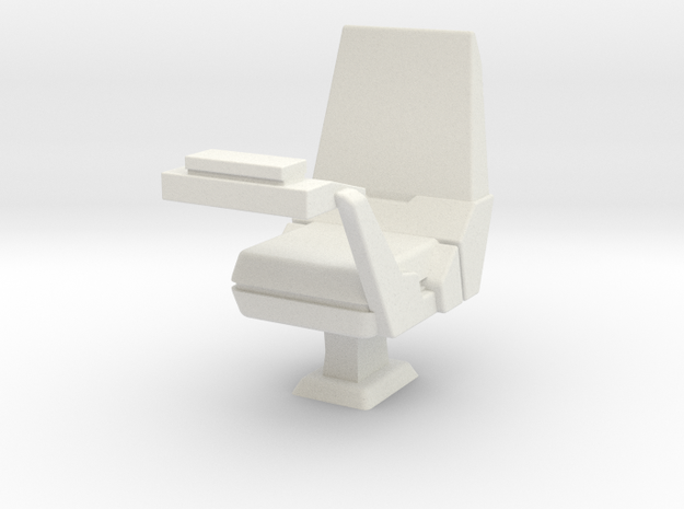 CP05 Sensor Operator's Chair (28mm) in White Strong & Flexible