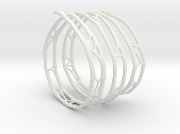 The Organic Bracelet in White Natural Versatile Plastic