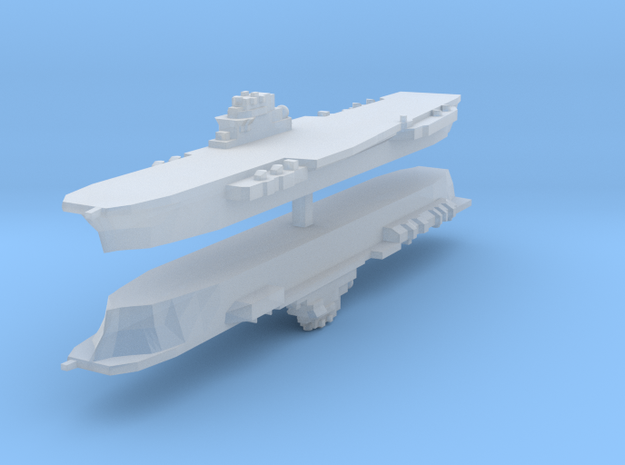Clemenceau Carrier 1:6000 x2 3d printed