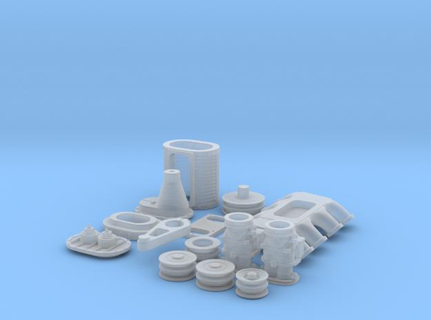 1/16 Flathead Ardun and SCOT Blower Kit 3d printed