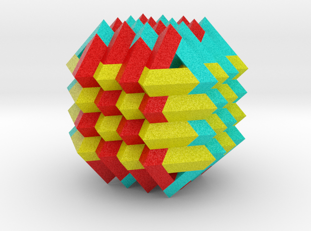 Woven Fabric on Cube 3d printed
