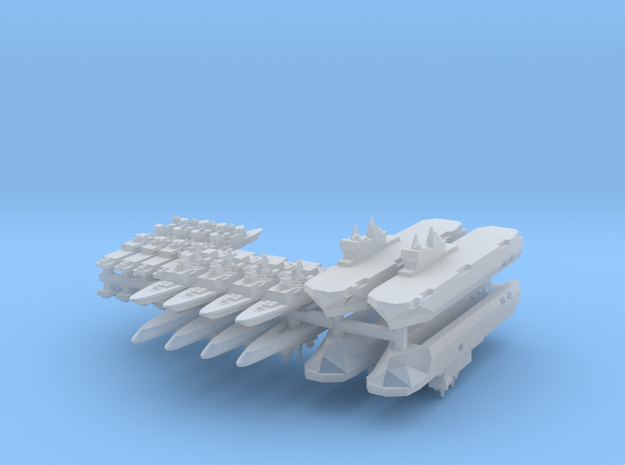 French Fleet 1 1:4800 (20 Ships) 3d printed