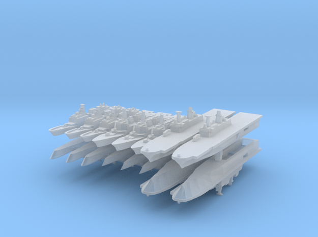 Korean Navy Fleet Pack 1:4800 (16 ships) 3d printed