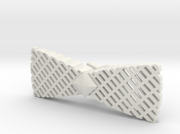 Spinning bow tie - stretched checker 3d printed