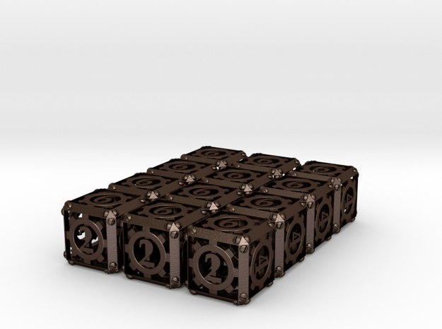 Steampunk 12d6 Set 3d printed