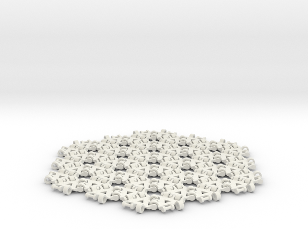 {3,6} radius 3 with boundary hinges in White Natural Versatile Plastic