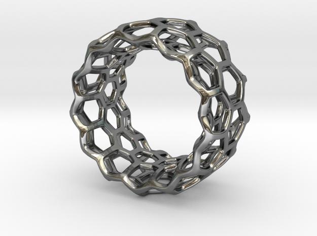 Honeycomb Ring US8 3d printed