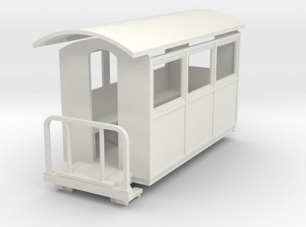 009 small closed coach 3d printed
