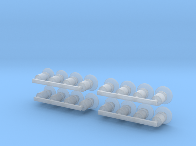 4 Sets Buffers 3d printed