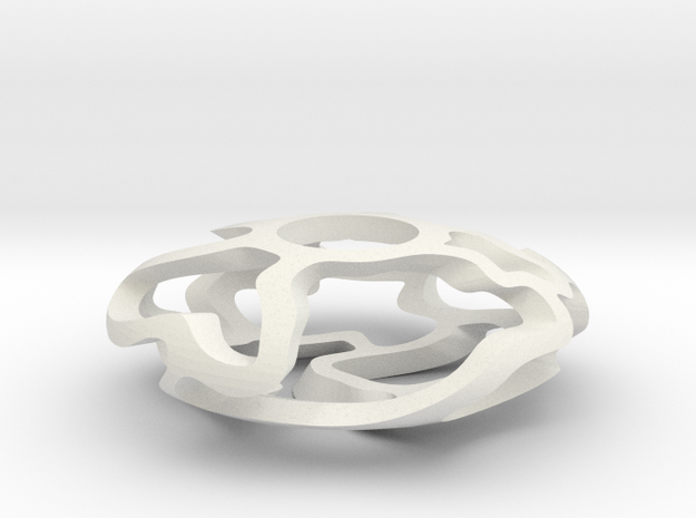 Vine Disc in White Natural Versatile Plastic