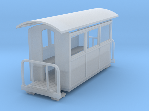 009 small closed coach twin balcony 3d printed