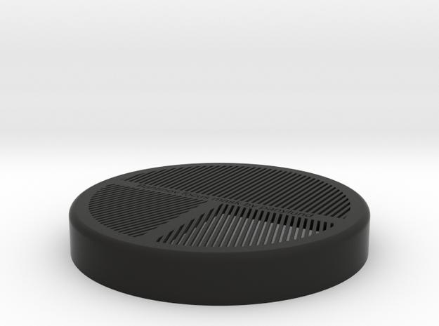 Bahtinov Mask for lenses up to 88mm OD in Black Natural Versatile Plastic