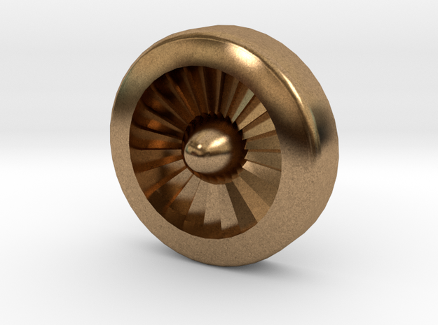 Aviation Button - Turbine Engine 3d printed