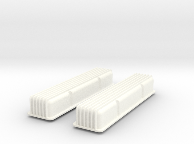 1/8 SBC Finned Valve Covers 3d printed