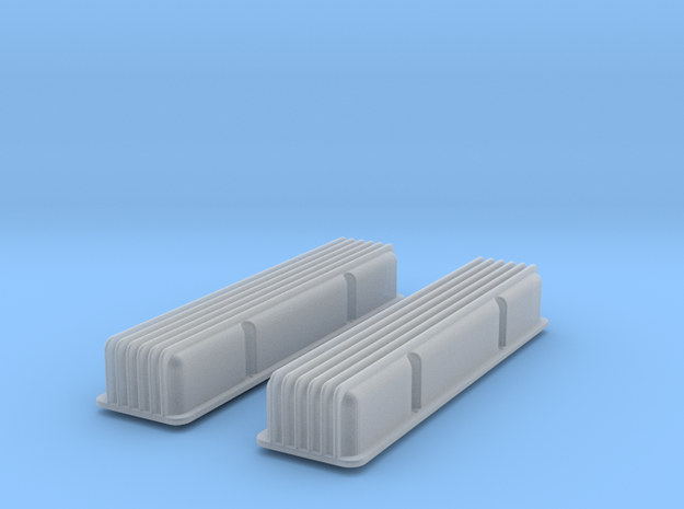 1/12 SBC Finned Valve Covers 3d printed