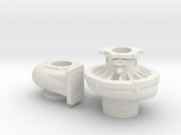 1/8 Scale 3 Inch Right Hand Turbo 3d printed