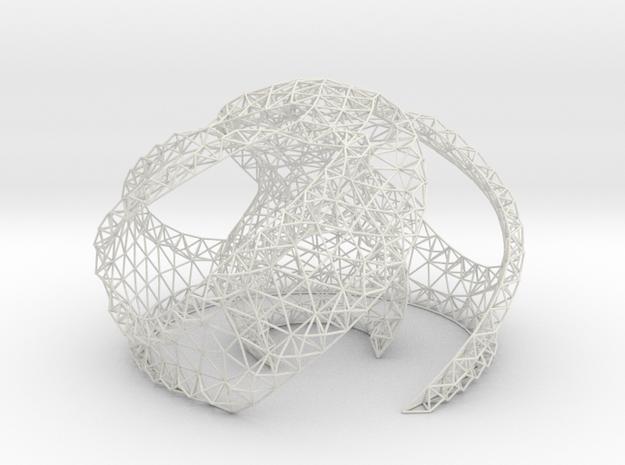 Swirl 01 60 percent Shell 01 in White Natural Versatile Plastic