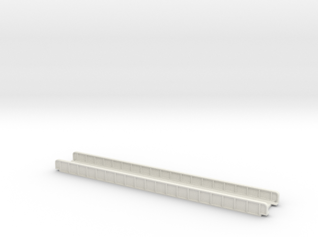 STRAIGHT 220mm SINGLE TRACK VIADUCT in White Natural Versatile Plastic