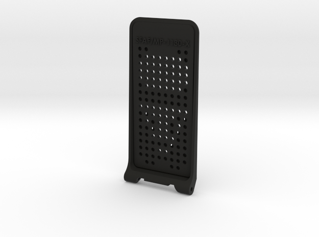Chest Box Communicator - Flip Lid in Black Natural Versatile Plastic