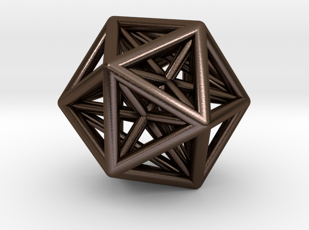 stellated dodecahedron inside icosohedron 3d printed