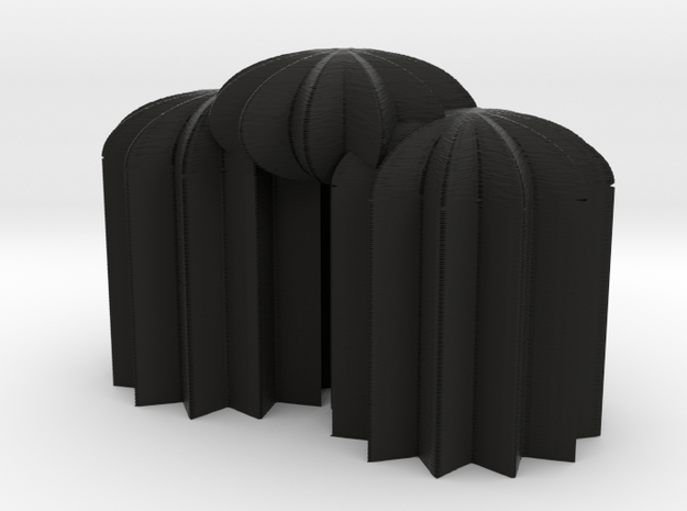 3Star12domes 3d printed