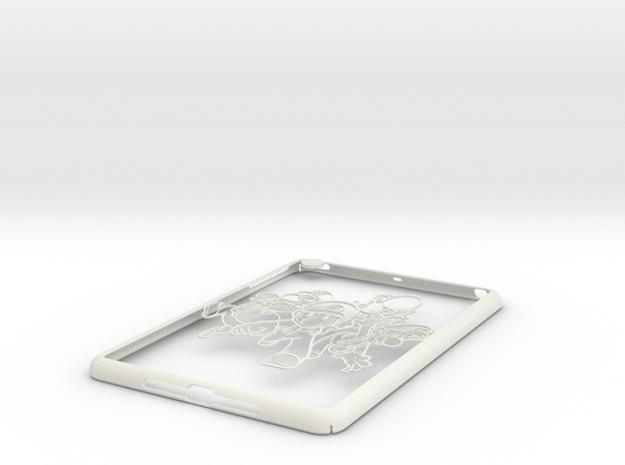 Ipad-cover-marios in White Strong & Flexible