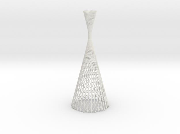 lightform | hyperboloid revolution  in White Natural Versatile Plastic