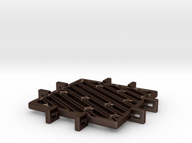 Square Pendant_Stripes 3d printed