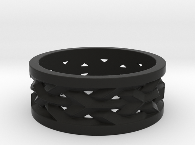 Black strong Flexible Ring Size  3d printed