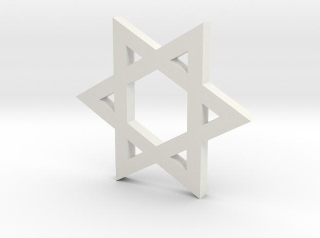Star of David 3d printed