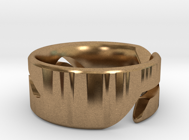 RING WAVE CUSTOMIZABLE Size 7 3d printed
