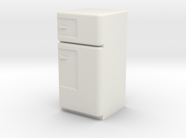 1:24 Vintage Fridge in White Natural Versatile Plastic