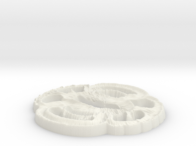 Tsuba  in White Natural Versatile Plastic