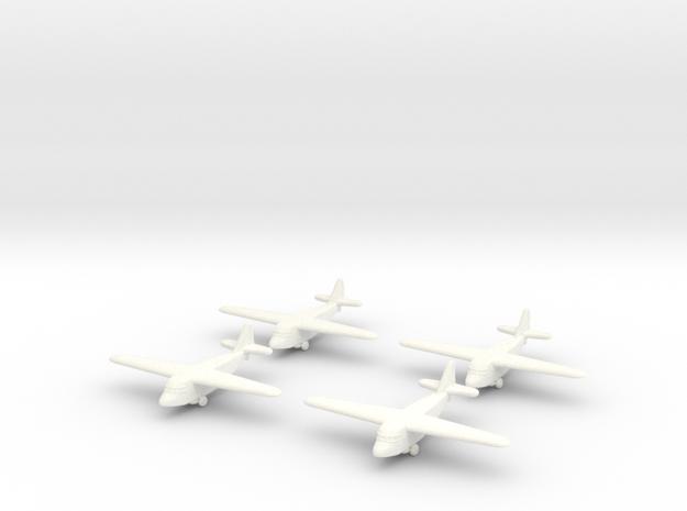 Kokusai Ku-8 (x4) 1/700 in White Strong & Flexible Polished