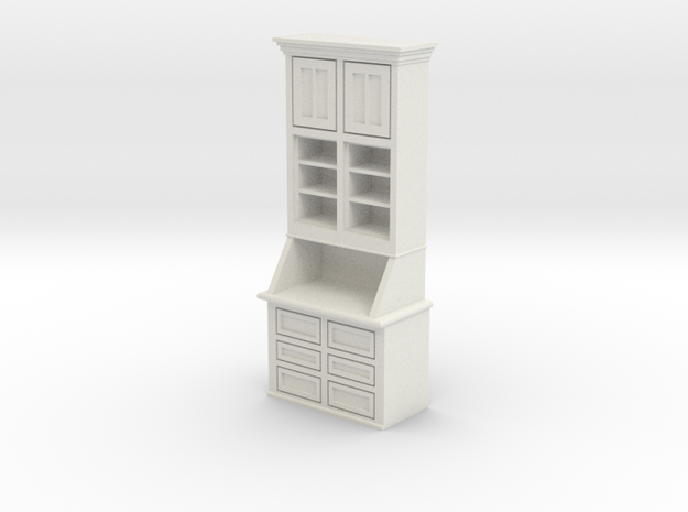 1:24 Cabinet in White Natural Versatile Plastic