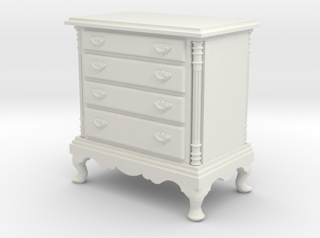 1:24 Dresser in White Natural Versatile Plastic