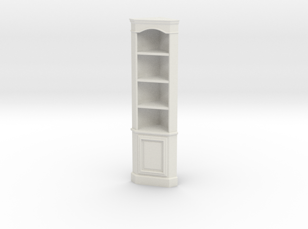 1:24 Corner Cabinet, Tall in White Natural Versatile Plastic