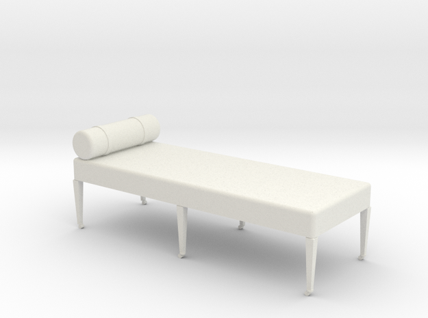 1:24 Divan in White Natural Versatile Plastic