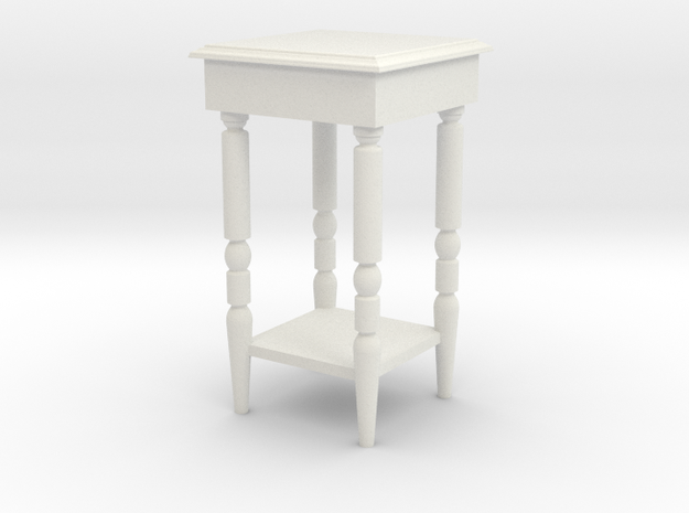 1:24 End Table in White Natural Versatile Plastic